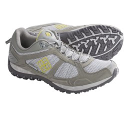 Columbia Sportswear Yama Trail Shoes (For Women) in Cool Grey/Fresh Kiwi