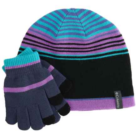 Columbia Sportswear Youth Hat and Gloves Set (For Youth) in Crown Jewel