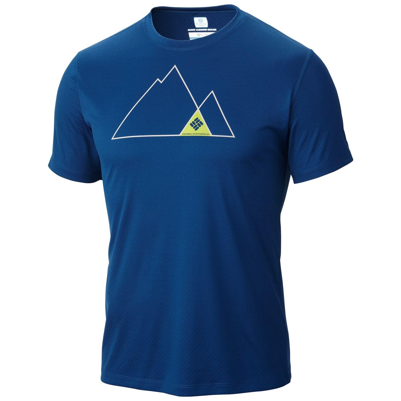 Columbia Sportswear Zero Rules Print T Shirt Omni Freeze
