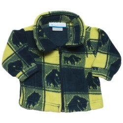 Columbia Sportswear Zing Fleece Jacket (For Infant Boys) in Tank Houndstooth Print