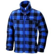 Columbia Sportswear Zing II Fleece Jacket (For Boys) in Hyper Blue/Lumber Jack - Closeouts