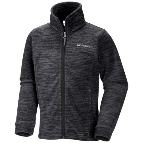 Columbia Sportswear Zing II Fleece Jacket (For Toddlers) in Black/Distress Stripe
