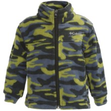 Columbia Sportswear Zing Jacket - Fleece (For Toddlers) in Elm Camo - Closeouts