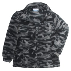 Columbia Sportswear Zing Jacket - Fleece (For Youth Boys) in Grill Camo