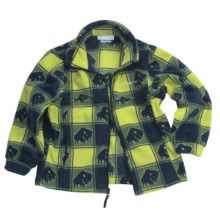 Columbia Sportswear Zing Jacket - Fleece (For Youth Boys) in Leapfrog Buffalo Print - Closeouts