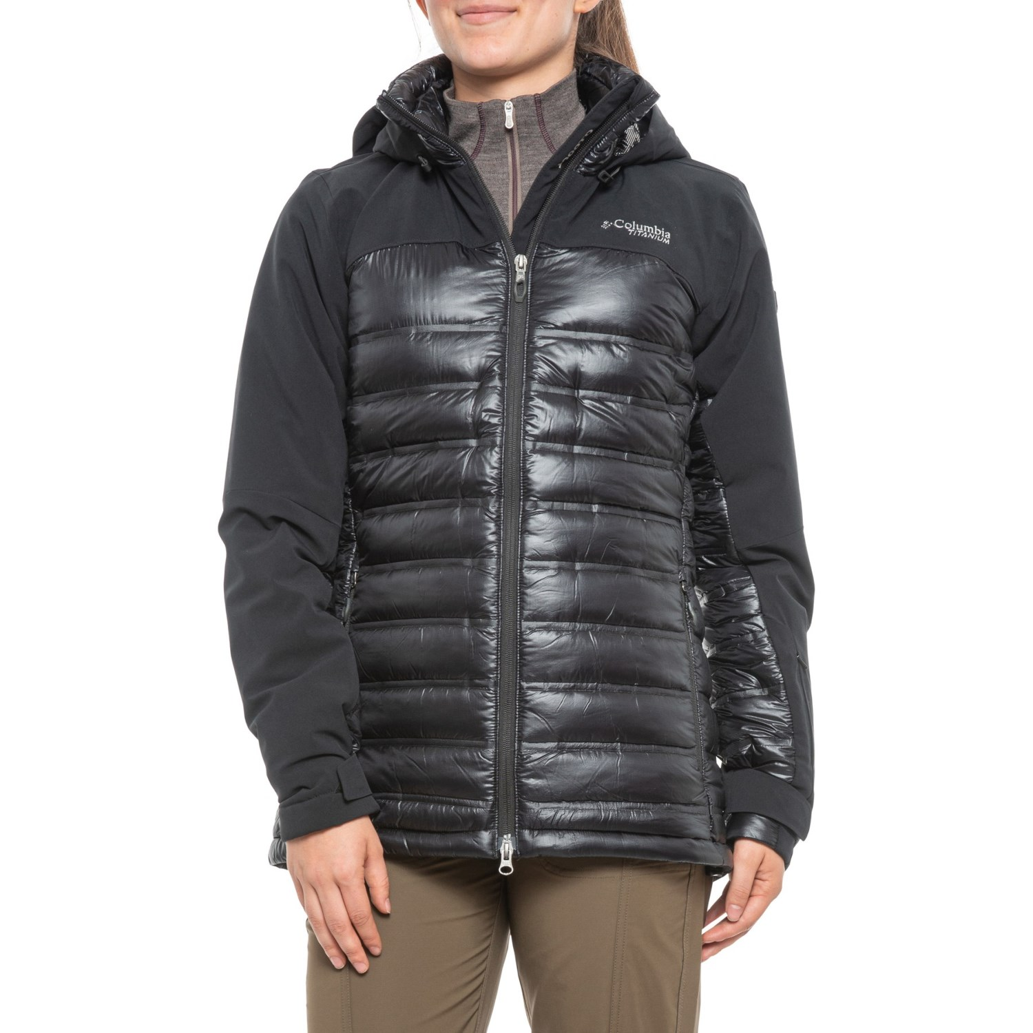 Columbia Titanium Heatzone 1000 TurboDown® Omni Heat® Hooded Jacket Waterproof, 900 Fill Power (For Women)