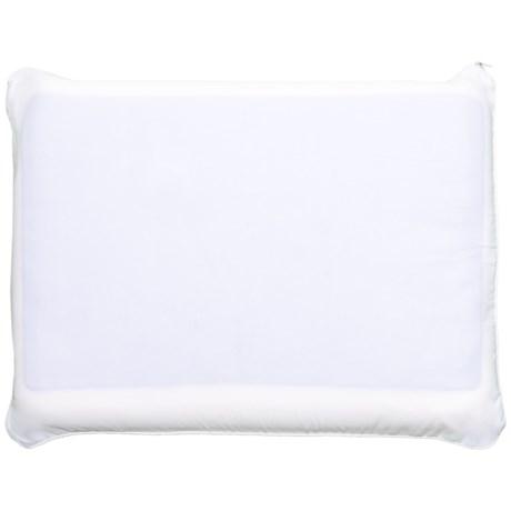 comfort revolution molded memory foam and gel bed pillow in white - Comfort Revolution Pillow