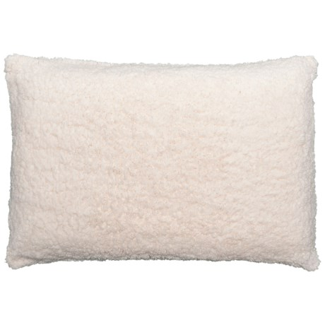 Comfort Revolution Sherpa and Memory-Foam Luxury Bed Pillow in Ivory