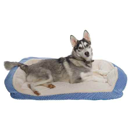 "Comfortable Pet Inc. Orthopedic Foam Plush Cuddler Dog Bed - 33x26"" in Serenity - Closeouts"