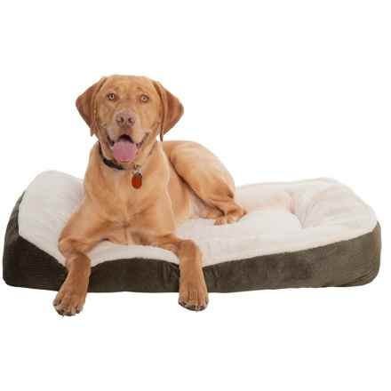 "Comfortable Pet Orthopedic Foam Plush Cuddler Dog Bed - 27x36"" in Chocolate - Closeouts"