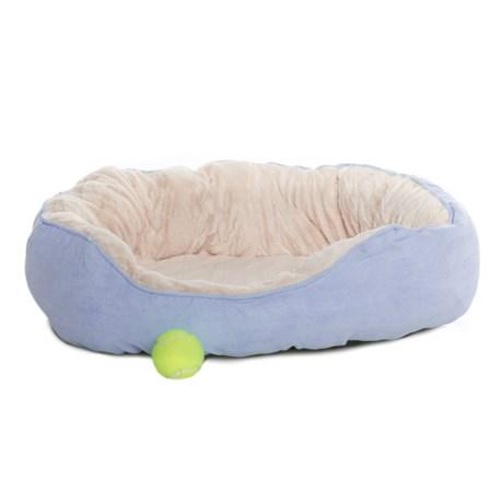 "Comfortable Pet Orthopedic Foam Suede Cuddler Pet Bed - 24x18"" in Serenity"