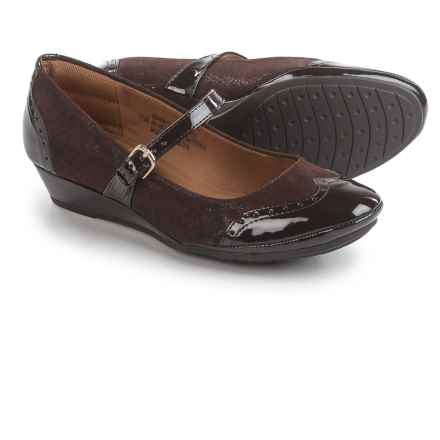 Comfortiva Amherst Mary Jane Shoes - Leather, Wedge Heel (For Women) in Clocolate - Closeouts