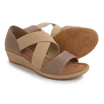 Comfortiva Brye Wedge Espadrilles - Leather (For Women) in Baywater - Closeouts