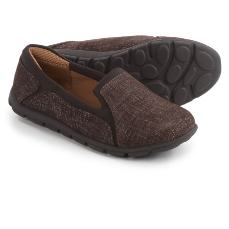 Comfortiva Cantrall Slip-On Shoes - Leather (For Women) in Coffee/Dark Brown