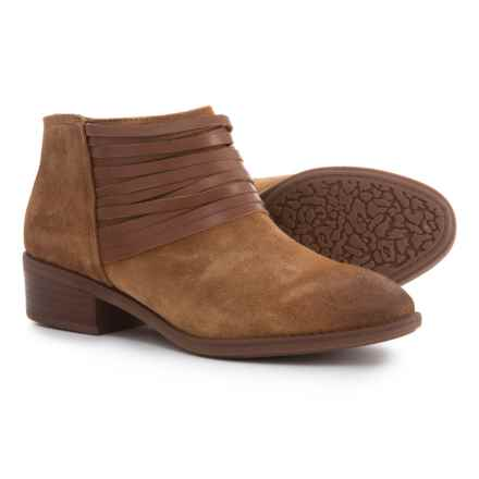 Comfortiva Corliss Ankle Boots - Leather (For Women) in Cognac Suede - Closeouts