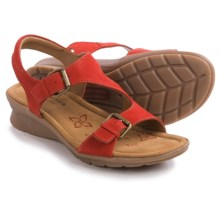 Comfortiva Kay Sandals (For Women) in Hot Red Nubuck - Closeouts