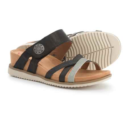 Comfortiva Lexa Wedge Sandals - Leather (For Women) in Black - Closeouts