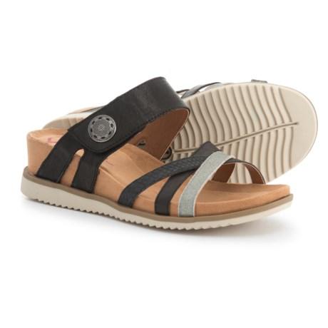 Comfortiva Lexa Wedge Sandals - Leather (For Women) in Black