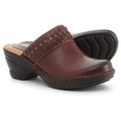 Comfortiva Lorain Clogs - Leather (For Women) in Port