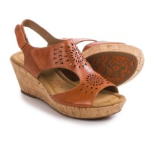 Comfortiva Rainer Wedge Sandals (For Women) in Poppy Orange - Closeouts