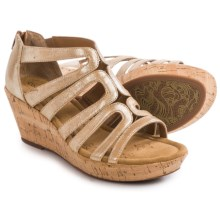 Comfortiva Redmond Wedge Sandals (For Women) in Gold - Closeouts