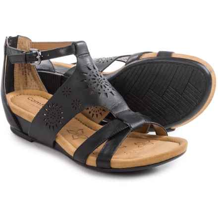Comfortiva Saco Sandals (For Women) in Black - Closeouts