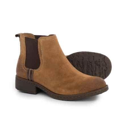 Comfortiva Salara Chelsea Boots - Leather (For Women) in Cognac Suede - Closeouts