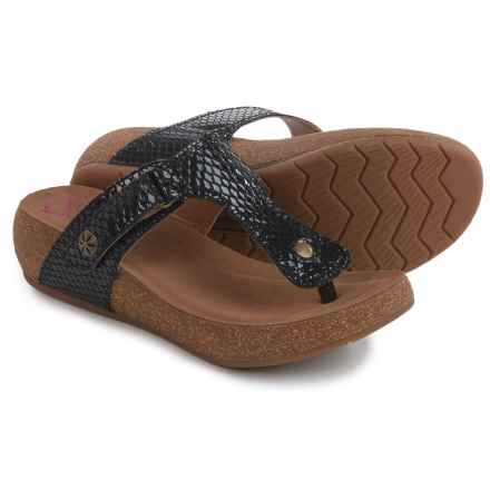 Comfortiva Shantel Sandals - Leather (For Women) in Black - Closeouts