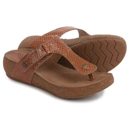 Comfortiva Shantel Sandals - Leather (For Women) in Luggage - Closeouts