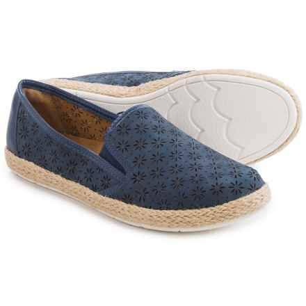 Comfortiva Sifton Leather Shoes - Slip-Ons (For Women) in Denim/Iris Blue - Closeouts