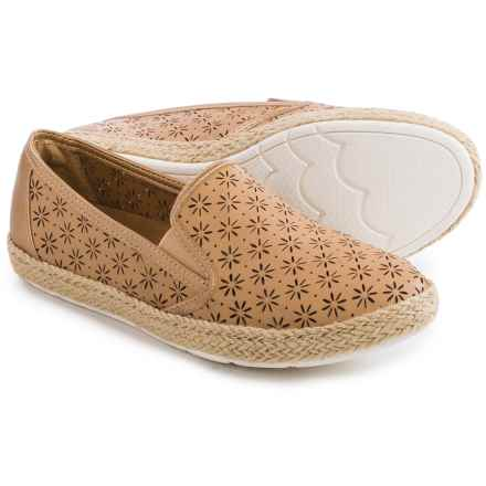 Comfortiva Sifton Leather Shoes - Slip-Ons (For Women) in Oatmeal - Closeouts