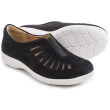 Comfortiva Tinsley Suede Shoes - Slip-Ons (For Women) in Black Suede - Closeouts