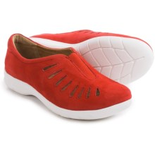 Comfortiva Tinsley Suede Shoes - Slip-Ons (For Women) in Coral Suede - Closeouts