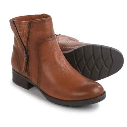 Comfortiva Val Ankle Boots - Leather (For Women) in Tan - Closeouts