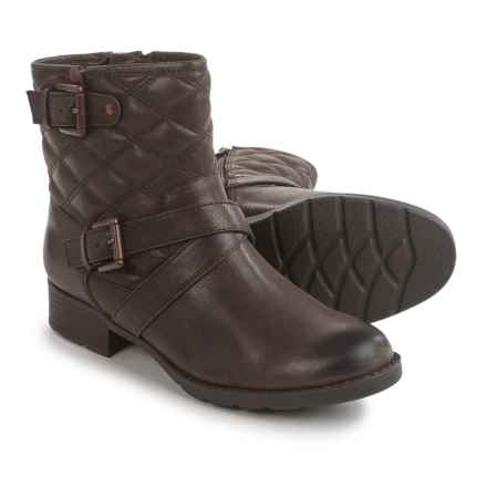 Comfortiva Vestry Boots - Leather (For Women) in Dark Brown - Closeouts