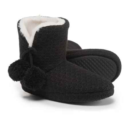 Comfy by Daniel Green Ariah Slipper Booties (For Women) in Black - Closeouts