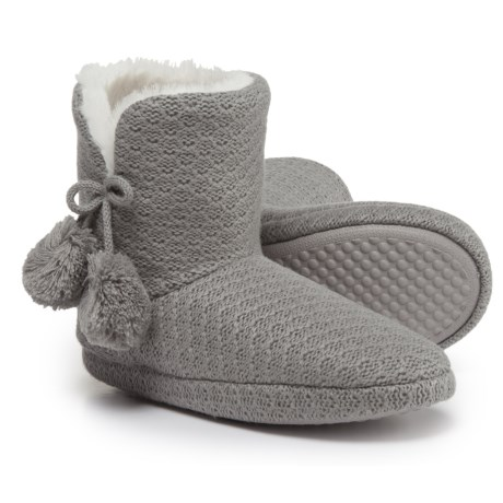 Comfy by Daniel Green Ariah Slipper Booties (For Women) in Grey