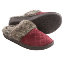 Comfy by Daniel Green Chelsee Slippers (For Women) in Burgundy - Closeouts