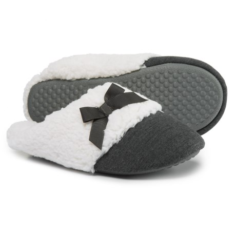 Comfy by Daniel Green Lena Scuff Slippers (For Women) in Charcoal
