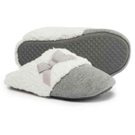 Comfy by Daniel Green Lena Scuff Slippers (For Women) in Grey - Closeouts