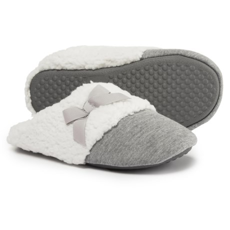 Comfy by Daniel Green Lena Scuff Slippers (For Women) in Grey