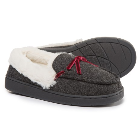 Comfy by Daniel Green Mabel Moccasins (For Women) in Charcoal