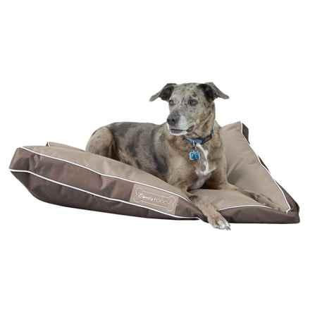 "Comfy Pooch Indoor/Outdoor Dog Bed - 40x30"" in Brown - Closeouts"