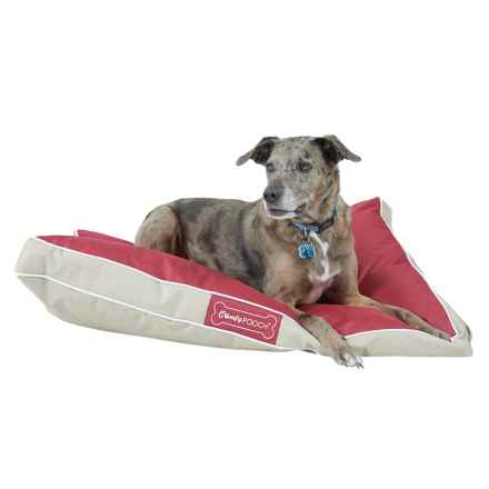 "Comfy Pooch Indoor/Outdoor Dog Bed - 40x30"" in Red/Beige - Closeouts"