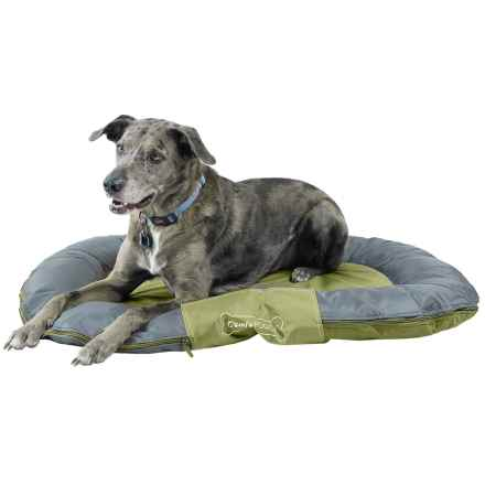"""Comfy Pooch Outdoor Bolster Dog Bed - 29.5x40.5"""" in Lime/Dark Grey - Closeouts"""