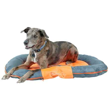 "Comfy Pooch Outdoor Bolster Dog Bed - 29.5x40.5"" in Orange/Grey - Closeouts"