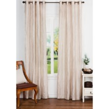 """Commonwealth Broomstick Crush Curtain Panels - 104x95"""", Grommet Top in Bone - Closeouts"""