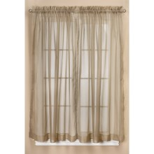 "Commonwealth Home Fashions Audrey Dotted Swiss Sheer Curtains - 108x84"", Pole-Top in Mushroom - Closeouts"