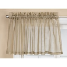 "Commonwealth Home Fashions Audrey Dotted Swiss Valance - 54x17"" in Mushroom - Closeouts"