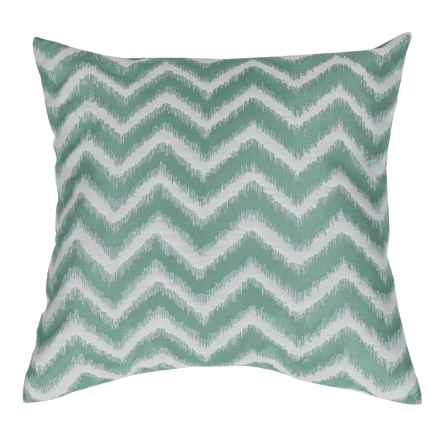 "Commonwealth Home Fashions Basir Chevron Throw Pillow - 18x18"" in Aquamarine - Closeouts"